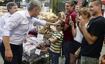 Tras las vacaciones, Macri volvió con una nueva puesta en escena en el Mercado Central | Mauricio macri