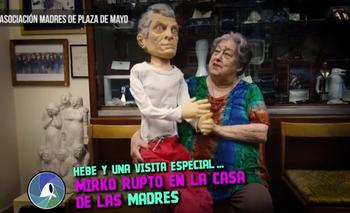 """""""Mirko Rupto"""": el insólito muñeco con el que Hebe de Bonafini se burló de Macri   Madres de plaza de mayo"""