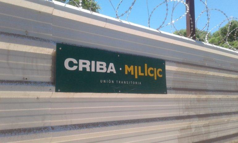 Tapiado de CRIBA en las obras de ampliación de Aeroparque.