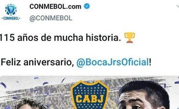 Conmebol saludó a Boca por su cumpleaños en una fecha equivocada | Conmebol