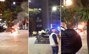 Prendió fuego su moto para evitar la secuestren por falta de papeles | Mar del plata