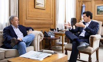 Schiaretti y Wado De Pedro, en un largo almuerzo en la Rosada | Federalismo