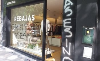 Escracharon un local de Etiqueta Negra en La Plata | Etiqueta negra