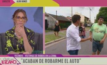 Robaron en vivo en un móvil de Vero Lozano en Aldo Bonzi | Verónica lozano
