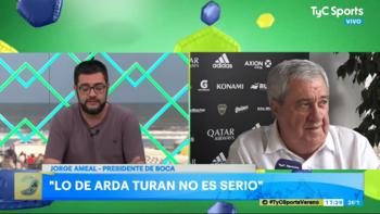 Ameal se enojó con TyC Sports y pidió hablar de cosas serias | Jorge ameal