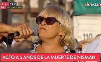 Pésimo momento: abuchearon a la oradora del acto por Nisman | Alberto nisman