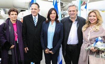 Alberto llegó a Israel en su primer viaje como Presidente   Alberto presidente