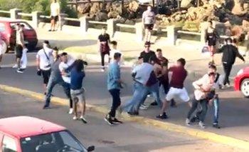 Batalla campal a las piñas entre argentinos y uruguayos   Uruguay