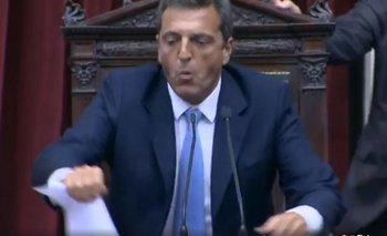 El blooper de Sergio Massa en plena sesión en el Congreso | Sergio massa