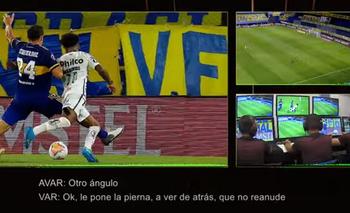 Se filtró el audio del VAR en Boca-Santos: ¿hubo penal de Izquierdoz? | Copa libertadores