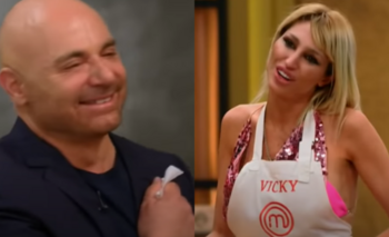 Vicky Xipolitakis le dejó un íntimo regalo a Germán Martitegui | Masterchef celebrity