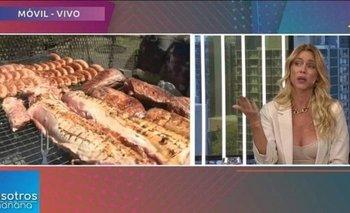 El horror de Nicole Neumann al ver cocinar un asado en vivo | Televisión