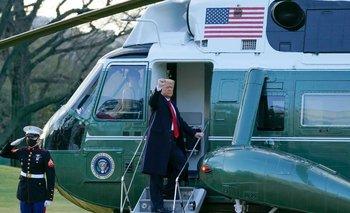 Video: así se fue Donald Trump de la Casa Blanca por última vez | Estados unidos