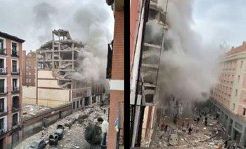 Fuerte explosión destroza edificio en Madrid: hay dos muertos | España