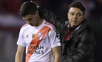 River: Nacho Fernández se fue de la práctica y despertó dudas   Fútbol