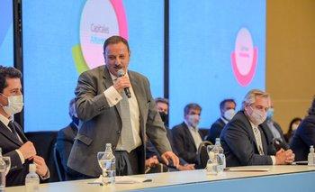 """Quintela destacó el """"compromiso fortísimo"""" de gobernadores con el Presidente   Sergio uñac"""