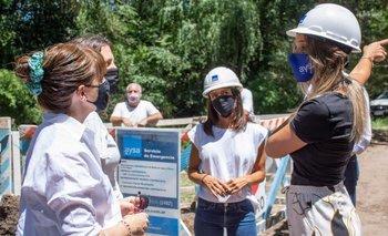 Malena Galmarini recorrió la nueva obra de red de agua potable en Tigre | Aysa