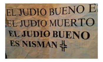 La DAIA repudió afiches antisemitas   Alberto nisman