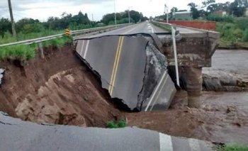 Temporal en Córdoba: cedió un puente en la ruta 9 | Temporal