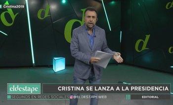 Elecciones 2019 | El editorial de Roberto Navarro: se lanza Cristina Kirchner | Roberto navarro