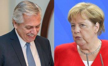Cumbre Alberto-Merkel, con la deuda en agenda  | Gira europea del presidente