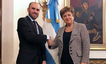 Guzmán se reunió con la titular del FMI en Italia | Deuda externa