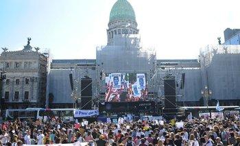 Masiva manifestación en el Congreso por Fernando Báez | Crimen en gesell