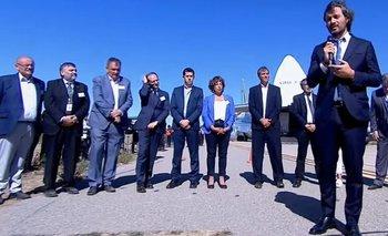 Cafiero participó del embarque del satélite Saocom1B | Industria satelital