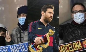 Coronavirus: preocupantes imágenes en Napoli-Barcelona | Champions league