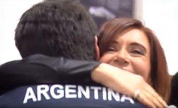 El mensaje de Cristina a Braian Toledo antes de competir