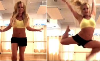 El momento en que Britney Spears se rompe el pie bailando | Video