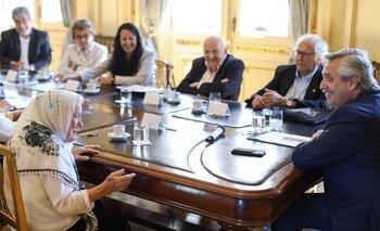 Alberto recibió a Nora Cortiñas y a otros referentes de DDHH | Derechos humanos