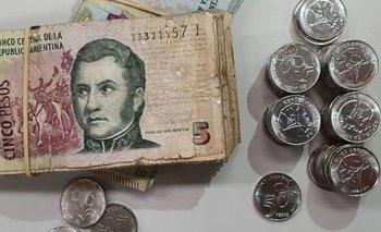 Último día para usar los billetes de 5 pesos | Banco central