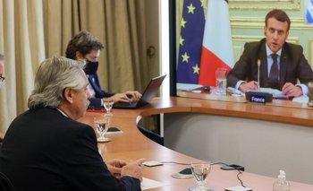 Alberto Fernández recibió el apoyo Emmanuel Macron para negociar con el FMI | Deuda externa