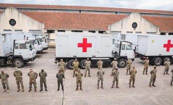 Llegó el nuevo Hospital Móvil del Ministerio de Defensa donado por China | Coronavirus en argentina