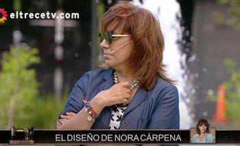 En Corte y Confección destrataron a Nora Cárpena y abandonó el show   Corte y confección