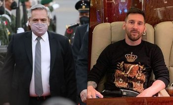 Alberto Fernández: cómo es el avión privado de Messi en el que viajó a México | Alberto fernández