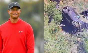 Tiger Woods, internado luego de volcar con su camioneta | Golf