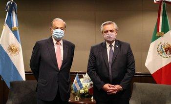 Alberto Fernández se reunió con Carlos Slim: el magnate apoyo la economía | Alberto fernández