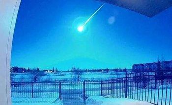 Impactante caída de un meteorito en Canadá   Canadá