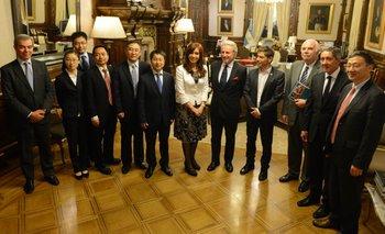 Cristina recibió a empresarios chinos interesados en el sector rural | Axel kicillof
