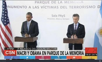 El incómodo momento que pasó Macri junto a Obama en el Parque de la memoria | Obama en argentina