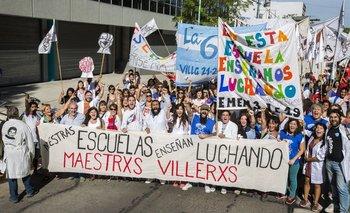 Maestros villeros marcharon por mejores condiciones para enseñar | Educación
