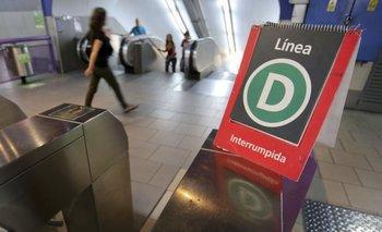 La UTA dispuso paro por tiempo indeterminado de la línea D de Subtes