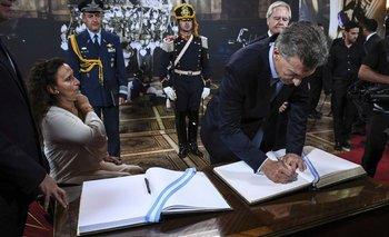 Sesiones ordinarias: el mensaje que dejó Macri en el libro de honor del Senado   Macri presidente