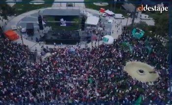 La masiva marcha por el día de la Memoria, desde el drone de El Destape   Madres de plaza de mayo
