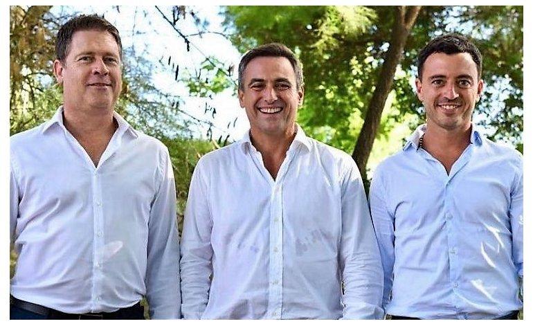 Ramón Mestre, Carlos Brinner y Rodrigo De Loredo.