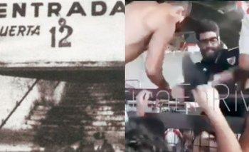 """La nueva """"puerta 12"""" que sembró el pánico en River   Video"""