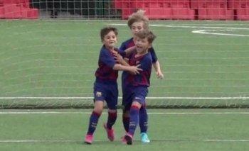 Thiago Messi la descosió con la 10 del Barcelona    Thiago messi
