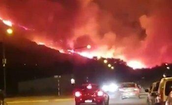 Impactantes imágenes del incendio en Esquel | Chubut